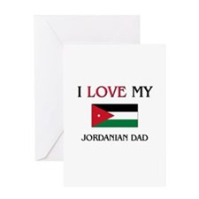 I Love My Jordanian Dad Greeting Card