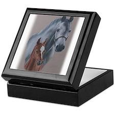 Grey Mare and Chestnut Foal Keepsake Box