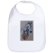 Grey Mare and Chestnut Foal Bib