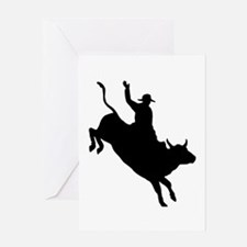 Bull Rider Greeting Card