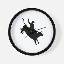 Bull Rider Wall Clock
