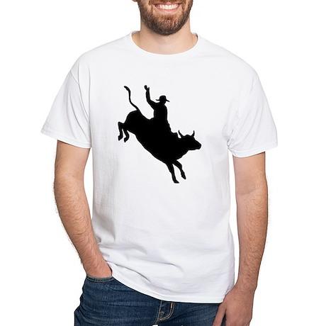 Bull Rider White T-Shirt