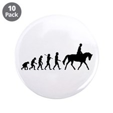 """Horse Rider 3.5"""" Button (10 pack)"""