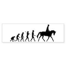 Horse Rider Bumper Car Sticker
