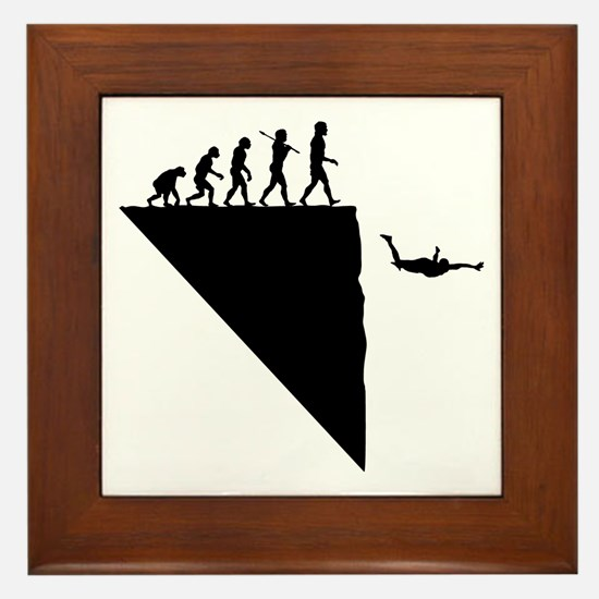 Base Jumper Framed Tile