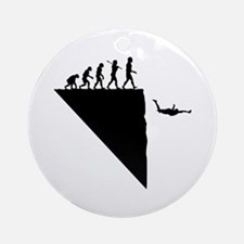 Base Jumper Ornament (Round)