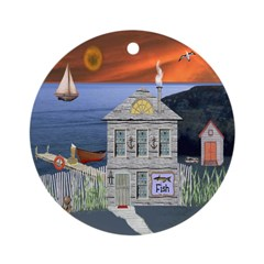 The Fisherman's Shack Ornament (Round)