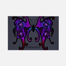 Purple Shadow Butterfly Rectangle Magnet