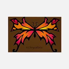 Orange Sunset Butterfly Rectangle Magnet