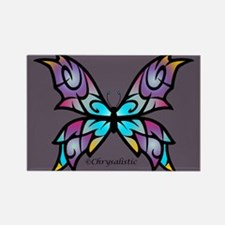 Freesia Butterfly Rectangle Magnet