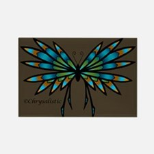 Copper Butterfly Rectangle Magnet