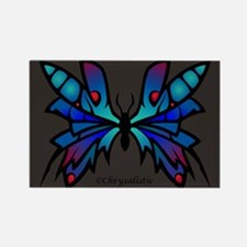 Blue Moonglow Butterfly Rectangle Magnet