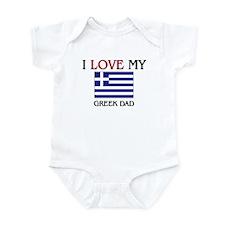 I Love My Greek Dad Infant Bodysuit