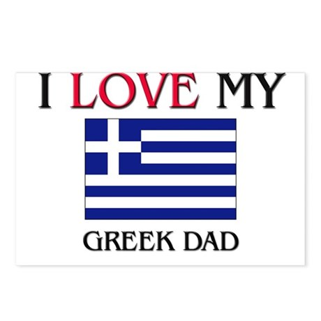 I Love My Greek Dad Postcards (Package of 8)