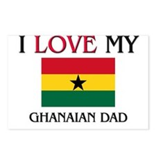 I Love My Ghanaian Dad Postcards (Package of 8)