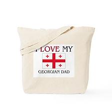 I Love My Georgian Dad Tote Bag