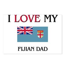 I Love My Fijian Dad Postcards (Package of 8)