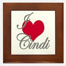I love (heart) Cindi Framed Tile