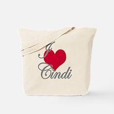 I love (heart) Cindi Tote Bag