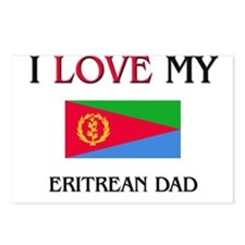 I Love My Eritrean Dad Postcards (Package of 8)