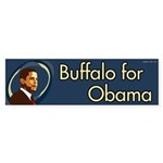 Buffalo for Obama bumper sticker
