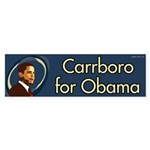 Carrboro for Obama bumper sticker
