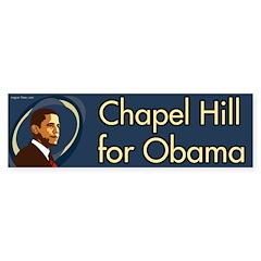 Chapel Hill for Obama bumper sticker