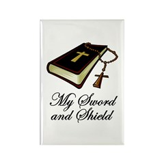 My Sword and Shield Rectangle Magnet (10 pack)