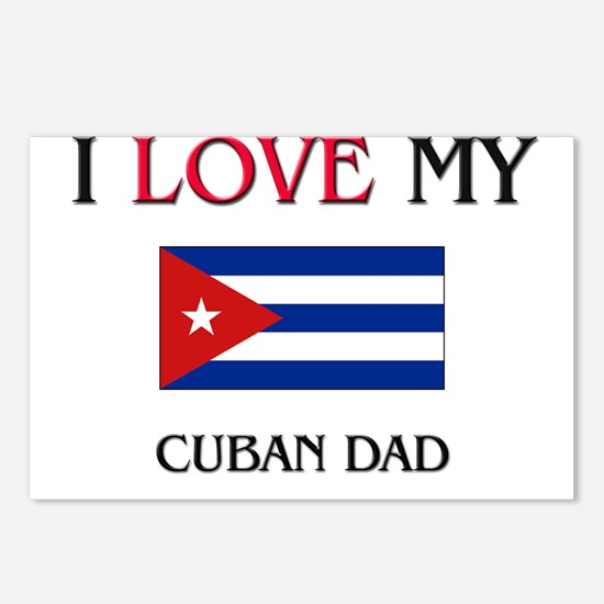 I Love My Cuban Dad Postcards (Package of 8)