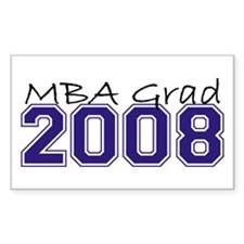 MBA Grad 2008 (Blue) Rectangle Decal