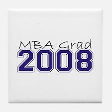MBA Grad 2008 (Blue) Tile Coaster