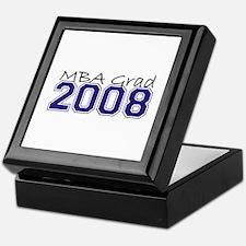 MBA Grad 2008 (Blue) Keepsake Box