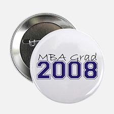 """MBA Grad 2008 (Blue) 2.25"""" Button"""