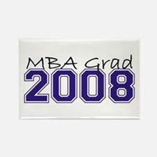MBA Grad 2008 (Blue) Rectangle Magnet