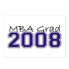 MBA Grad 2008 (Blue) Postcards (Package of 8)
