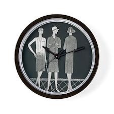 Wall Clock 1920s Fashion