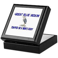 Great Blue Heron Trapped In A Man's Body Keepsake