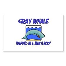 Gray Whale Trapped In A Man's Body Decal