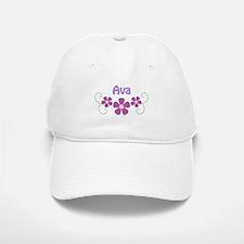 Eva Pink Flowers Baseball Baseball Cap