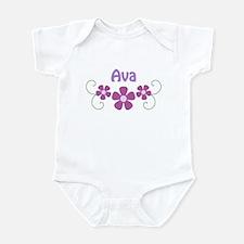 Eva Pink Flowers Infant Bodysuit