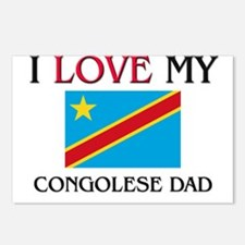 I Love My Congolese Dad Postcards (Package of 8)