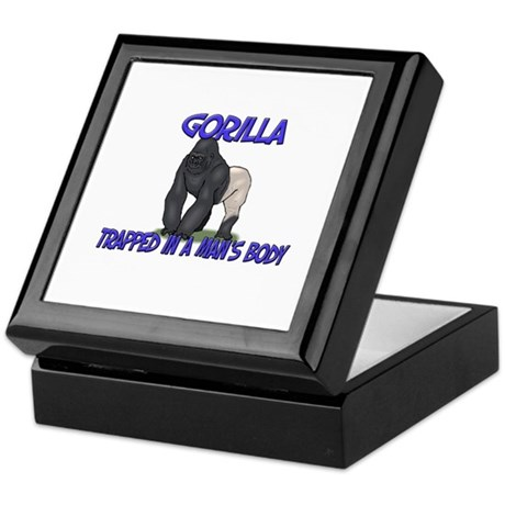 Gorilla Trapped In A Man's Body Keepsake Box
