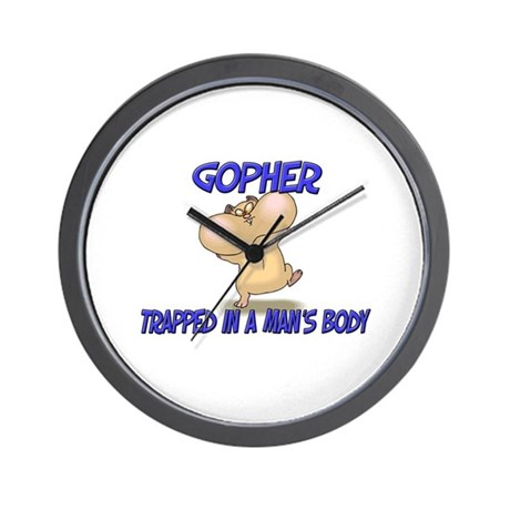Gopher Trapped In A Man's Body Wall Clock