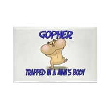 Gopher Trapped In A Man's Body Rectangle Magnet