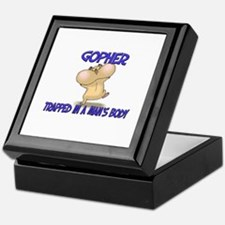 Gopher Trapped In A Man's Body Keepsake Box