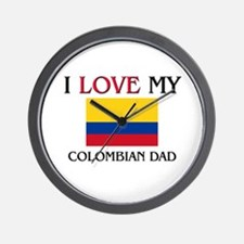 I Love My Colombian Dad Wall Clock