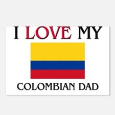 I Love My Colombian Dad Postcards (Package of 8)