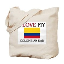 I Love My Colombian Dad Tote Bag