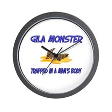 Gila Monster Trapped In A Man's Body Wall Clock