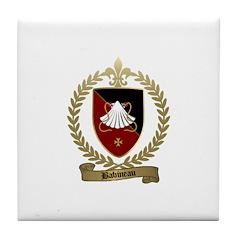BABINEAU Family Crest Tile Coaster